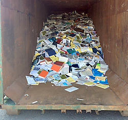 Tossed into a dumpster: Fisheries & Oceans library books and reports at the Maurice Lamontagne Institute in Mont Joli, Quebec. Source: Postmedia.