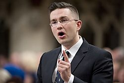 Pierre Poilievre, Harper's most partizan attack dog and, bizarrely, Democratic Reform Minister. Source: Toronto Star.