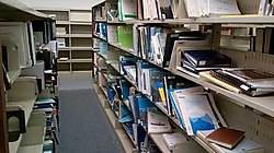 Reports and materials scattered on the shelves of the department of fisheries' library at Winnipeg's Freshwater Institute that closed in 2013. Source: Postmedia.