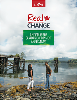 The Liberal platform features a section devoted to the environment and the economy.