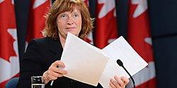 Information Commissioner Suzanne Legault launched an investigation into the muzzling of federal scientists in 2013. (Image Source: National Observer)